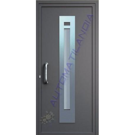 Fabricante de puerta de aluminio imitaci n madera st 3101 for Puertas de acero inoxidable