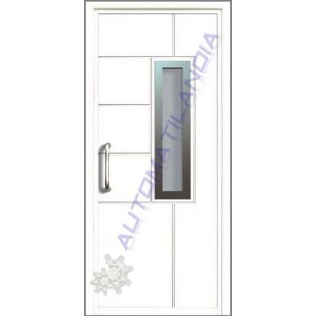 Montaje puerta para entrada casa aluminio de seguridad st for Precio de puertas para casa