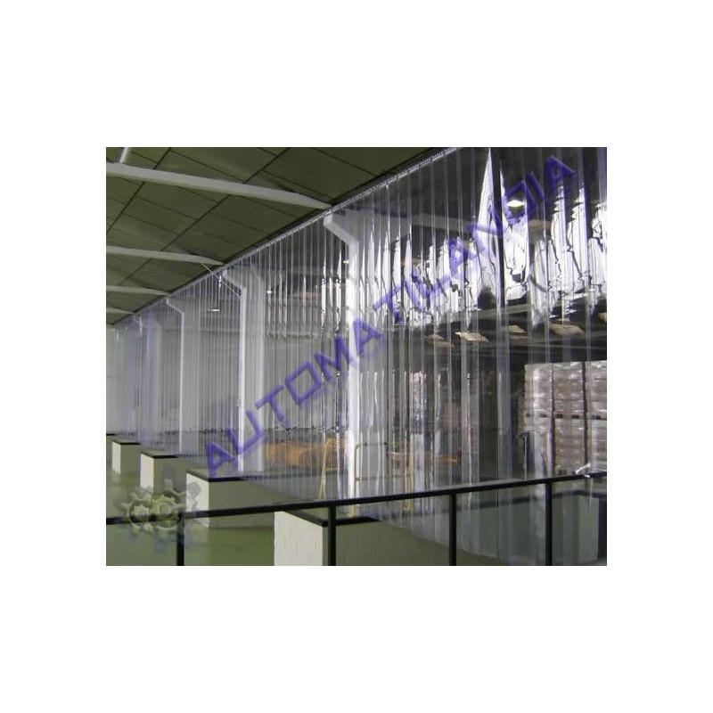 Comprar cortina de lamas pvc soporte de acero inoxidable for Lamas de pvc para paredes