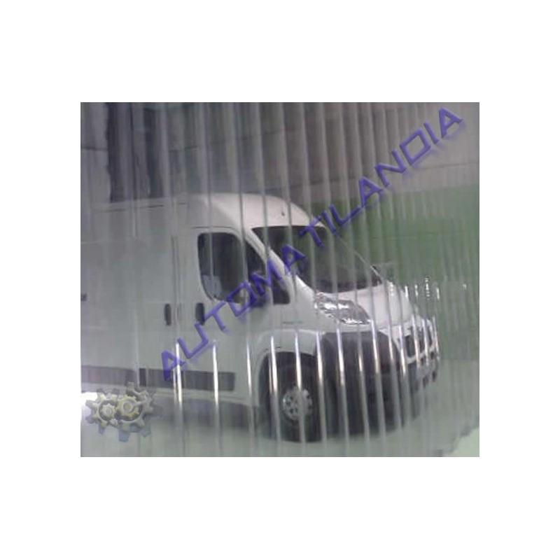 Tienda online cortina con lamas flexibles de pvc ypsis for Lamas de pvc para paredes