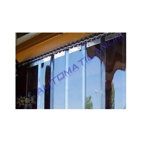 Comprar cortina pvc de lamas verticales separar ambientes for Soporte para cortinas