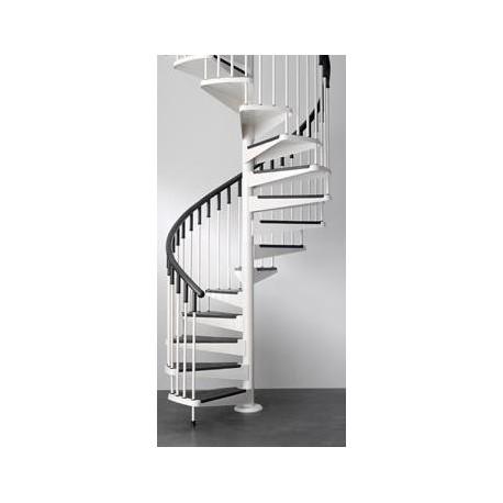 Escalera de caracol 8 pelda os en hierro lacado blanco y negro - Ver escaleras de caracol ...