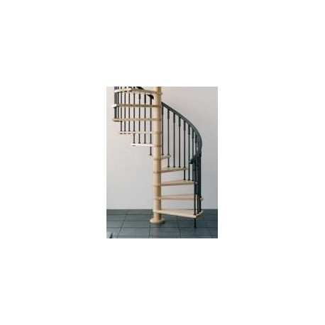 Escalera de caracol en madera 8 pelda os for Escaleras 8 peldanos