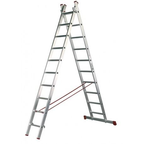 escalera industrial aluminio dos tramos
