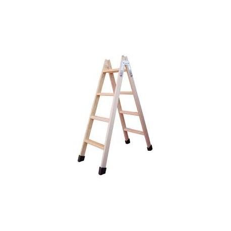 Escalera madera 4 pelda os planos fuerte y robusta for Planos de escaleras de madera