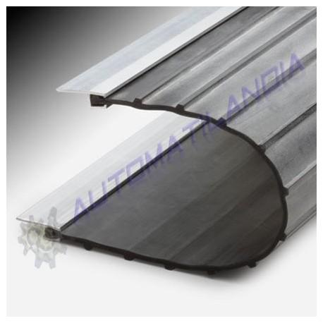 Goma antipinzamiento con bisagras para puertas abatibles y - Perfiles de aluminio precios ...