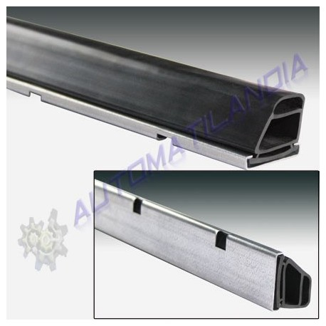 Kit perfil acero y goma proteccion puertas batientes y basculantes (metro lineal)