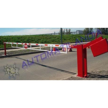 Barreras para plazas de garaje barrera manual de 6m for Cepos para plazas de garaje
