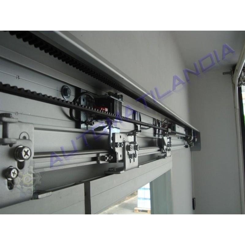 Kit puerta corredera autom tica de cristal motorline m200 for Motor puerta automatica
