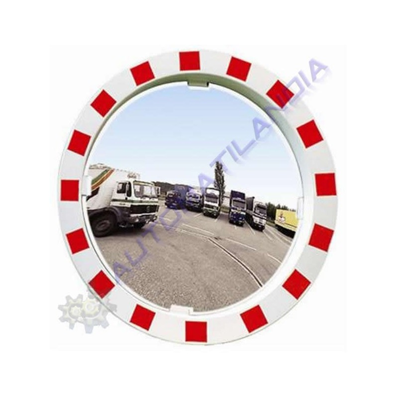 Espejo seguridad redondo convexo 900mm para tr fico marco for Espejo redondo grande