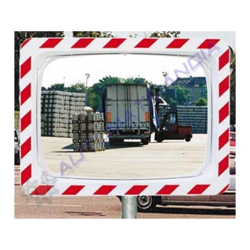 Espejo seguridad rectangular convexo 800x600mm tr fico for Espejo rectangular con marco