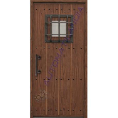 Puerta de calle r stica de madera de 2100x960 mm puerta - Puerta rustica de madera ...