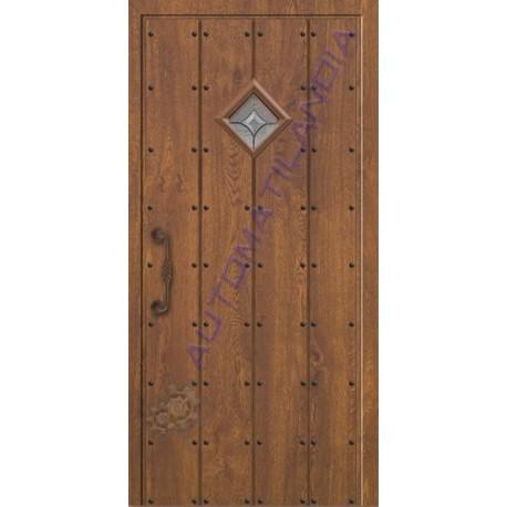 Puerta de calle r stica de madera sr 1301 de 2100x960 for Puertas de calle rusticas