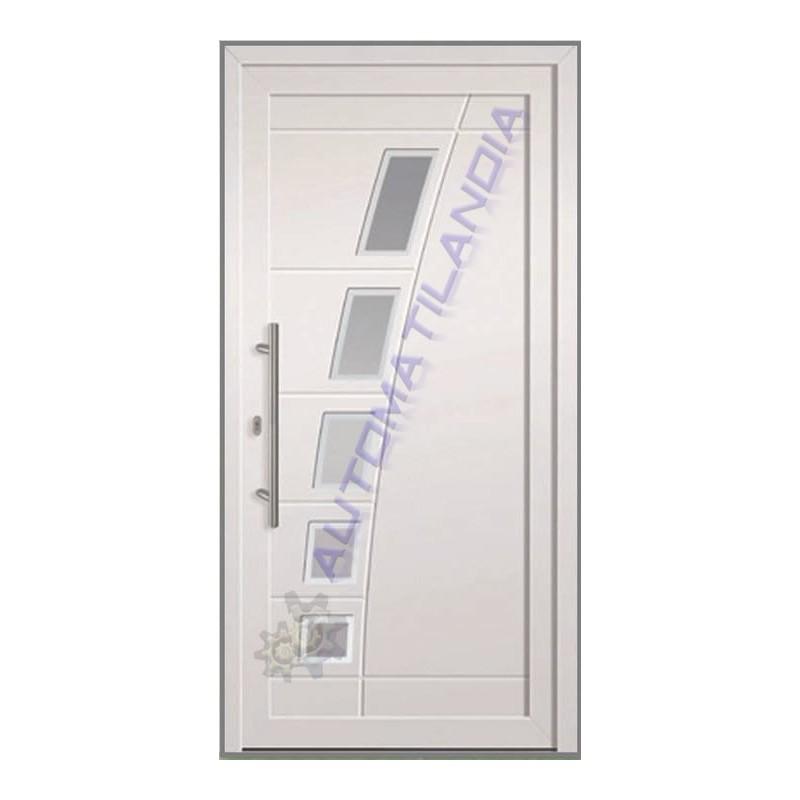Puerta de entrada blanca cr 2700 de 2100x960 mm - Medidas puerta entrada ...