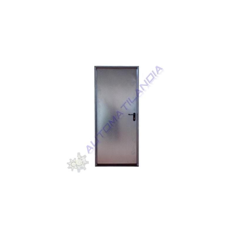 Puerta trastero galvanizada sin rejilla de 800 mm puerta for Puerta galvanizada