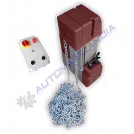 Kit automatismo para puertas seccionales industriales de ataque a eje hasta 25m2
