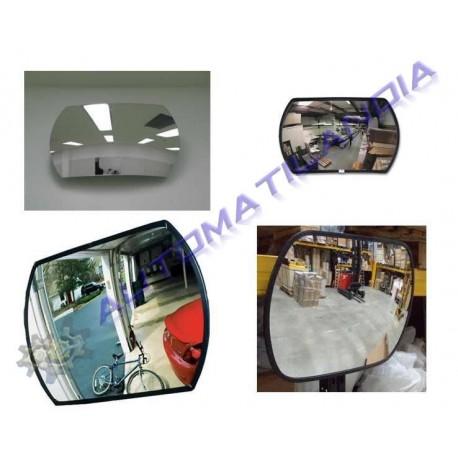 Espejo rectangular convexo 300x450 de seguridad interior for Espejo rectangular grande