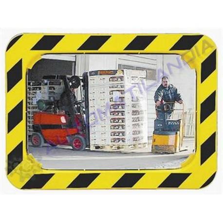 Espejo convexo rectangular seguridad 800x600mm industria for Espejo rectangular grande