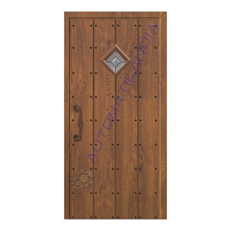 Puerta de calle r stica de madera sr 1301 de 2100x960 for Puertas de calle de madera