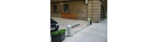 Barreras de cadena - barreras para estacionamientos